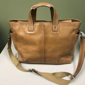 Coach Transatlantic Leather Tote